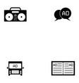 advertisement icon set vector image