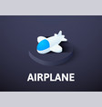 Airplane isometric icon isolated on color