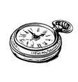 ancient pocket watch vector image vector image