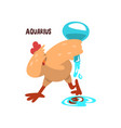 aquarius zodiac sign funny chick character vector image vector image