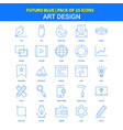 art design icons - futuro blue 25 icon pack vector image vector image