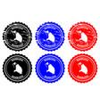 barbuda rubber stamp vector image
