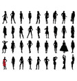 black silhouettes beautiful girls vector image vector image