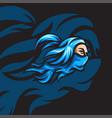 blue shadow ninja vector image vector image