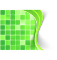 Bright green tile background template vector image vector image