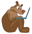 cartoon character bear vector image vector image