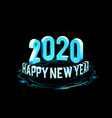 congratulations on new year 2020 in vector image