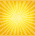 crumpled yellow sunburst background vector image vector image