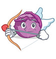 cupid red cabbage character cartoon vector image