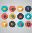 Design coffee icons vector image