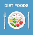 diet food dieting and nutrition vector image