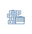 documentation line icon concept documentation vector image vector image