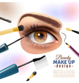 Eye Makeup Blurred Background Poster vector image