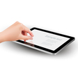 Fingers pinching to zoom tablet s screen vector | Price: 1 Credit (USD $1)