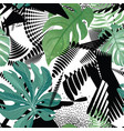 floral seamless pattern tropical leaves over vector image vector image
