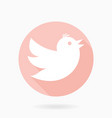 flying bird flat icon vector image