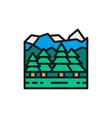 forest and mountains canadian landscape flat vector image vector image