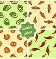 fruit and vegetables pattern set vector image