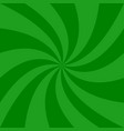 green abstract spiral background - design from vector image vector image