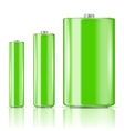 Green battery range vector image