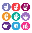 hand gestures line icons set vector image vector image