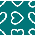 Heart web icon flat design Seamless pattern vector image vector image