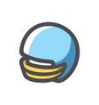 helmet football team blue icon cartoon vector image vector image