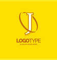 j logo template yellow background circle brand vector image vector image