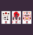 japan tour banners symbols vector image
