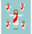 Jesus set of movements Jesus set of poses Jesus is vector image vector image