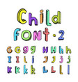 kids cartoon alphabet vector image