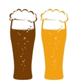 light and dark beer glasses vector image vector image