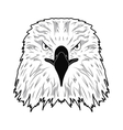 logo depicting the head of an eagle vector image vector image