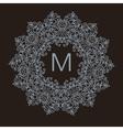 Luxury simple and elegant monochrome vector image