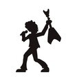 man musician rock microphone design vector image vector image