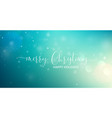 merry christmas greeting text vector image