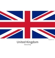 National flag of United Kingdom with correct vector image vector image