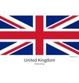 national flag united kingdom with correct vector image