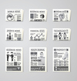Newspaper daily flat set design template vector image