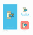 online banking company logo app icon and splash vector image vector image