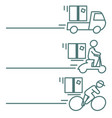 package delivery icons with blank space vector image vector image