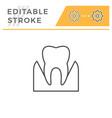 parodontosis editable stroke line icon vector image vector image