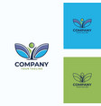 pleasant human logo template vector image vector image