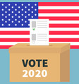 president election day vote 2020 ballot voting vector image vector image