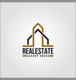real estate - elte property logo template vector image
