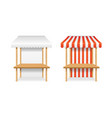 realistic detailed 3d blank and striped market vector image vector image