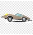 retro cartoon car vector image