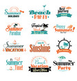 retro summer badge vector image vector image
