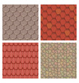 roof tiles of classic texture and detail house vector image vector image