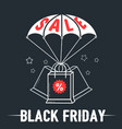 sale banner black friday vector image vector image